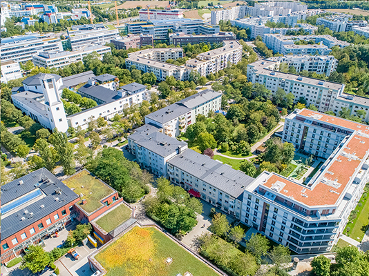 THERESE-GIEHSE-ALLEE 74 UND MAXIMILIAN-KOLBE-ALLEE 8-14